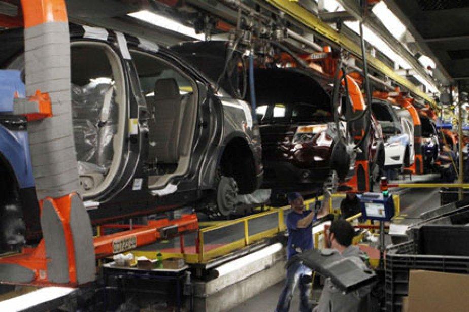 Bien que la production automobile ait chuté, ... (Photo: Frank Polich, Reuters)