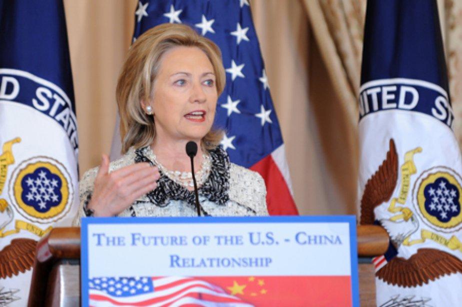 La secrétaire d'État américaine Hillary Clinton a prononcé... (Photo: AFP)