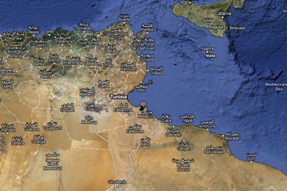 La géographie et l'économie de la Tunisie (Image: Google Maps)