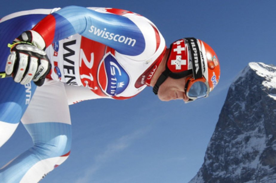 À 2,80 contre 1, le Suisse Didier Cuche... (Photo: Ruben Sprich, Reuters)