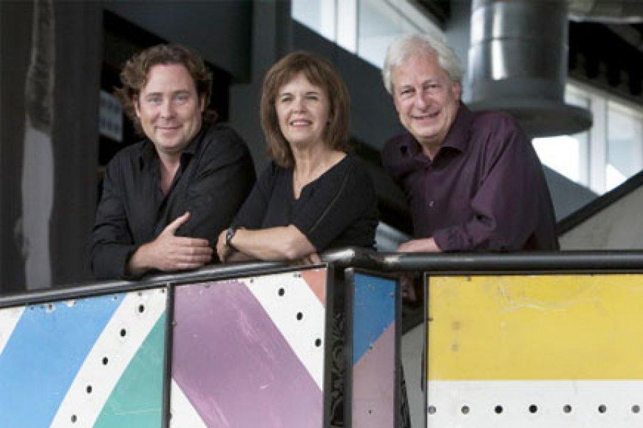 Stéphane Lavoie, Nadine Marchand et Gaétan Morency... (Photo: Robert Skinner, La Presse)