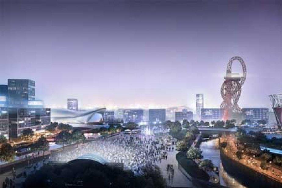 Une image générée par ordinateur du parc olympique... (Photo: AP)