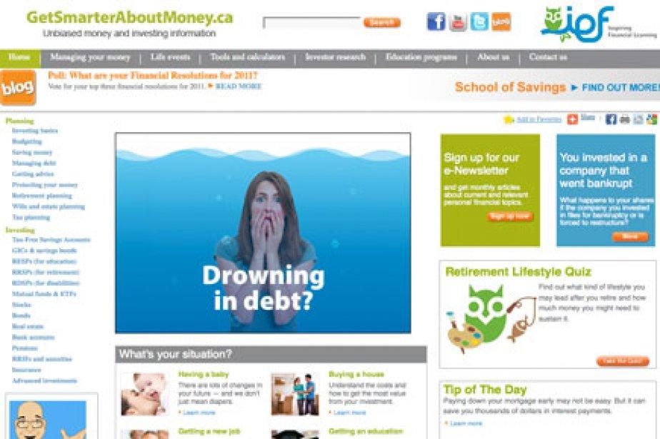 L'Investor Education Fund chapeaute le site Internet ... (Photo tirée du site getsmarterabout.ca)