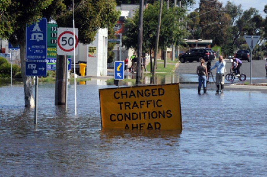 La ville de Horsham, à 300 km au... (Photo: AFP)