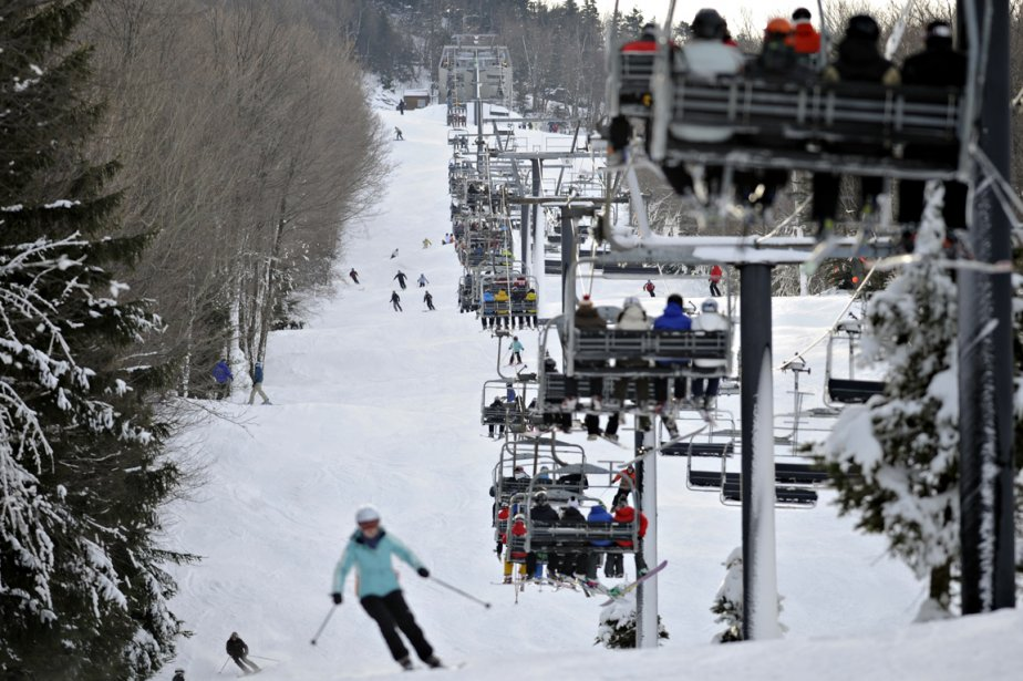 Ski au Mont-Sutton... (Photo: Bernard Brault, La Presse)