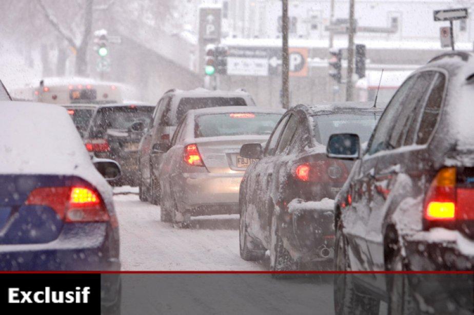 Trafic dense, le lot quotidien des Montréalais, rue... (Photo: Alain Roberge, archives La Presse)