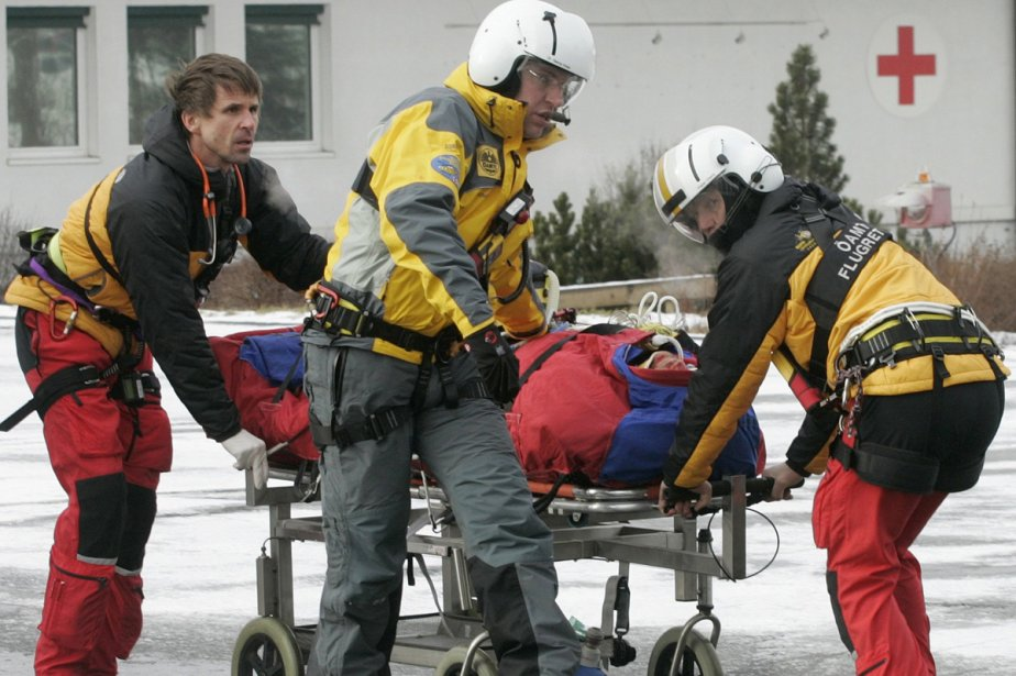 Hans Grugger, 29 ans, a chuté sur l'exigeant... (Photo: Reuters)