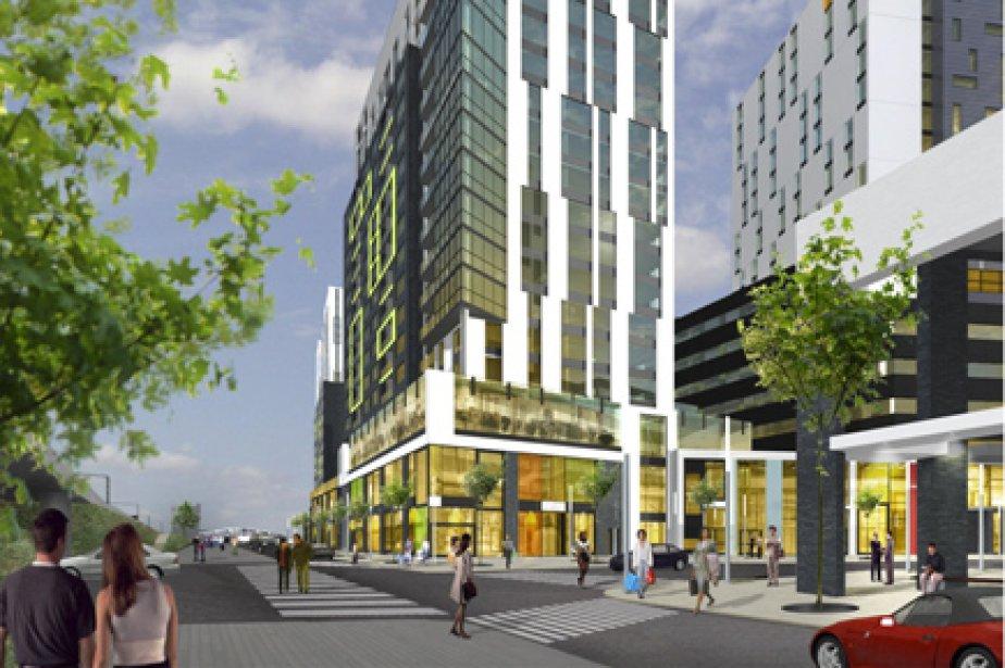 Le premier immeuble de District Griffin sera construit... (Illustration fournie par Devimco)