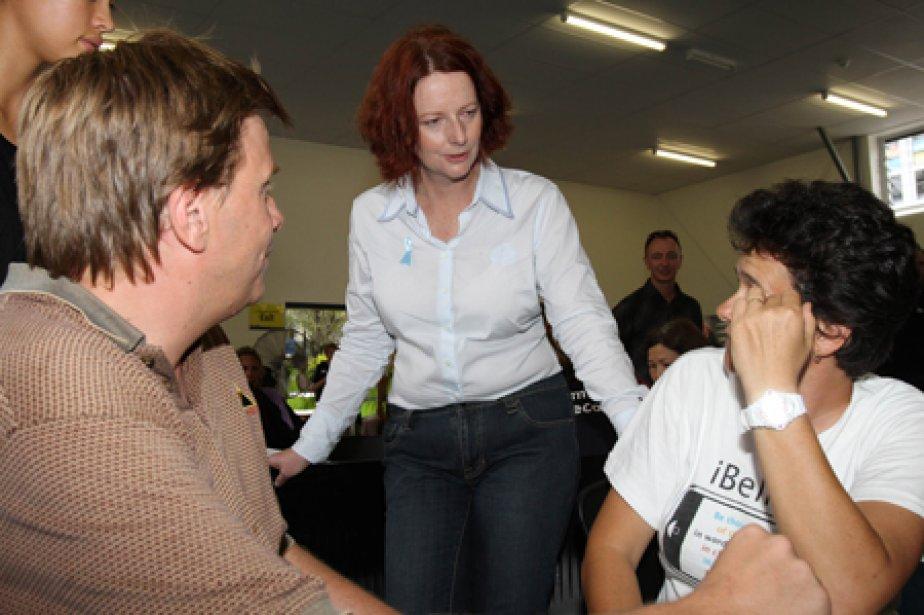 La première ministre australienne, Julia Gillard, a visité... (Photo: AFP)