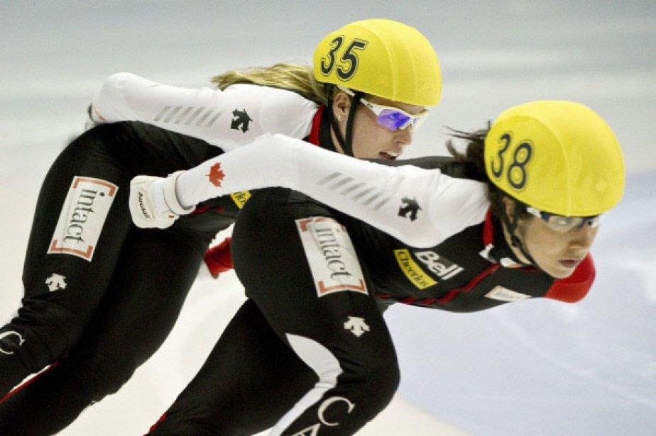Marie-Ève Drolet et Marianne St-Gelais... (Photo PC)
