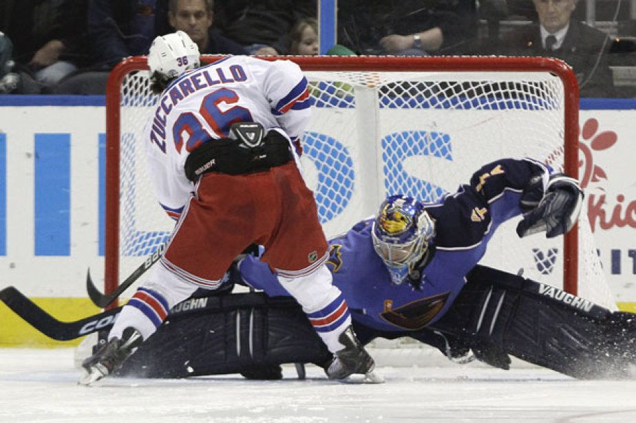 Mats Zuccarello a marqué le but gagnant en... (Photo: David Goldman, Associated Press)