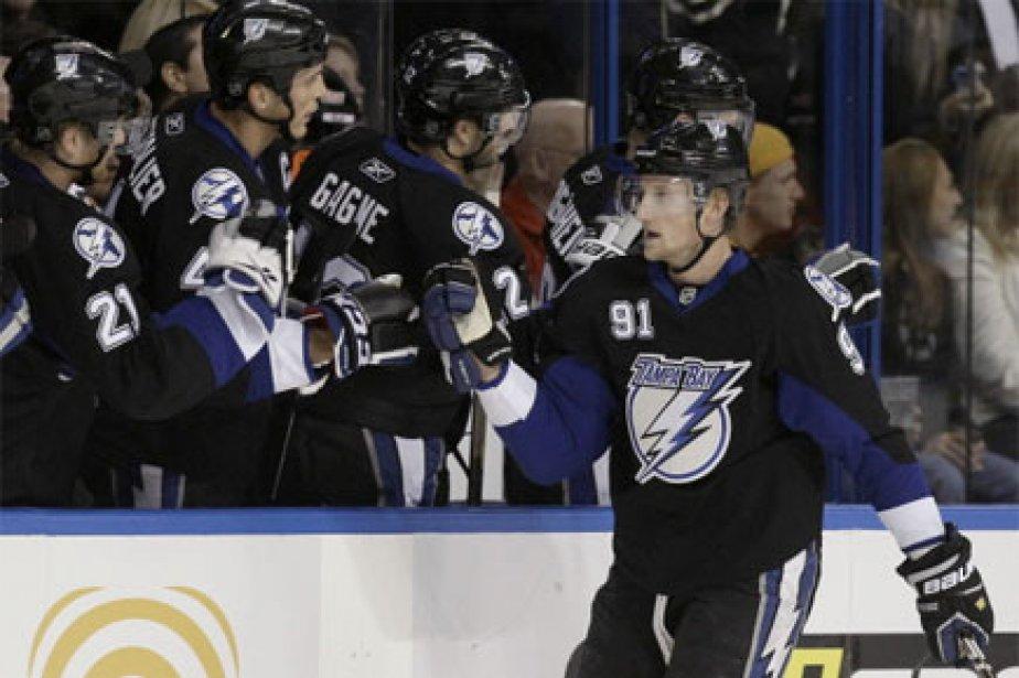 Stamkos a donné les devants 3-0 au Lightning... (Photo: AP)