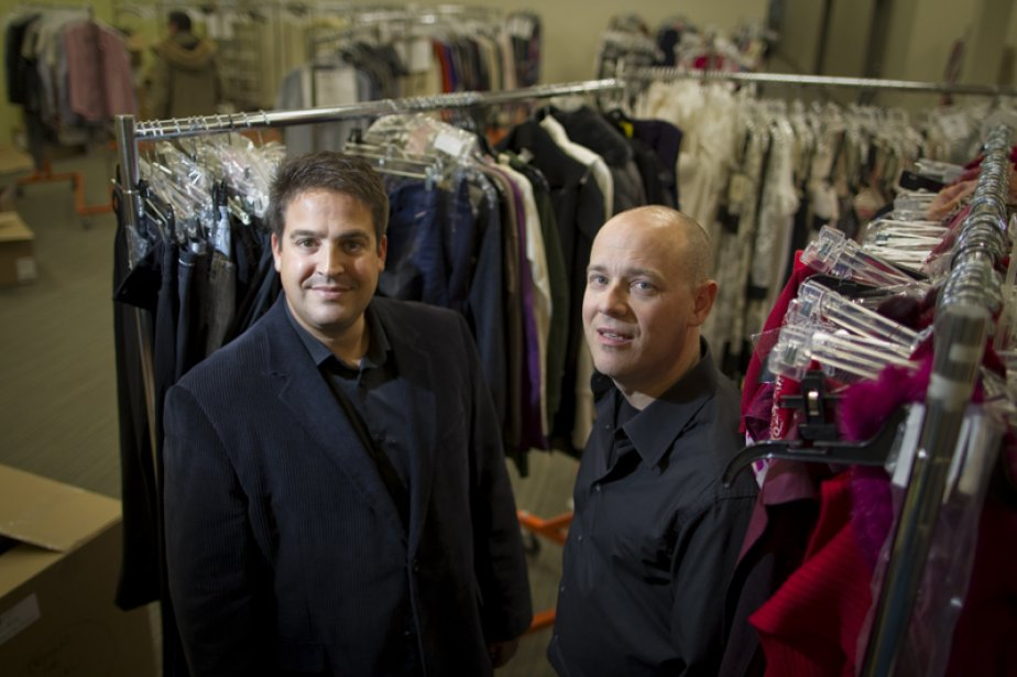 Yona Shtem et Robert Gold, deBeyondthe Rack.L'entreprise montréalaise... (Photo André Pichette, La Presse)