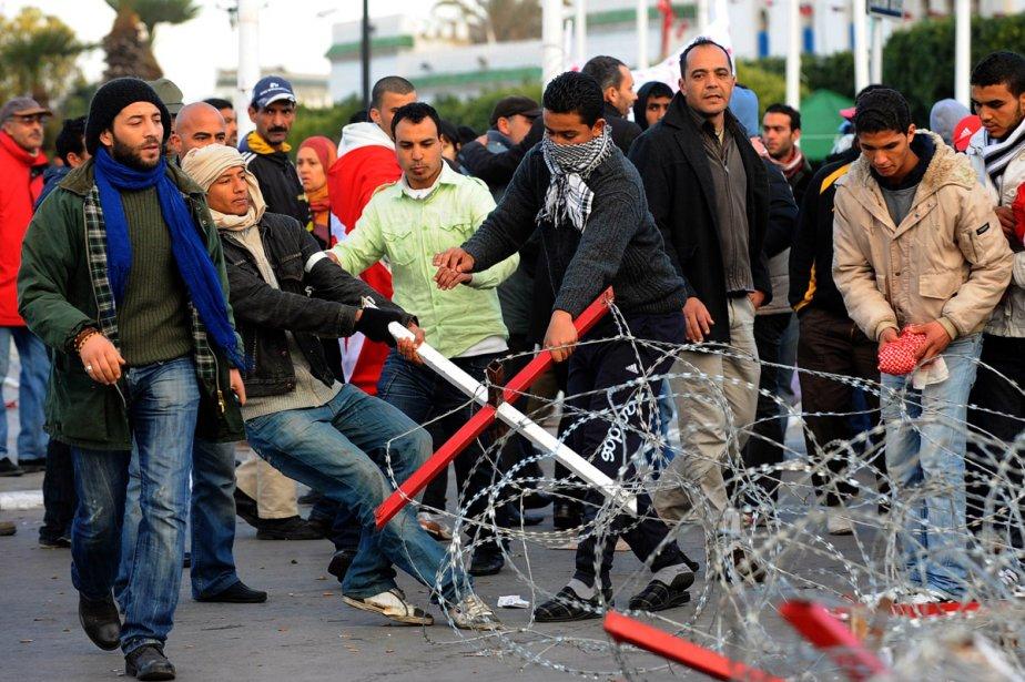 Les manifestants ont affronté les forces de l'ordre... (Photo: AFP)