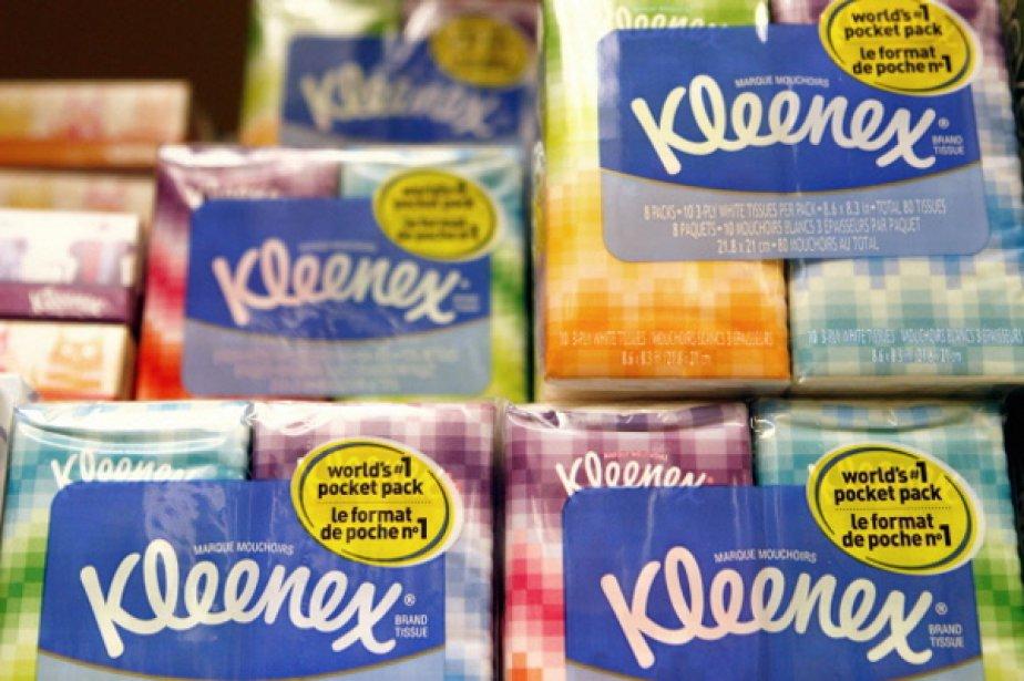 Le fabricant américain de mouchoirs en papier et... (Photo Associated Press)