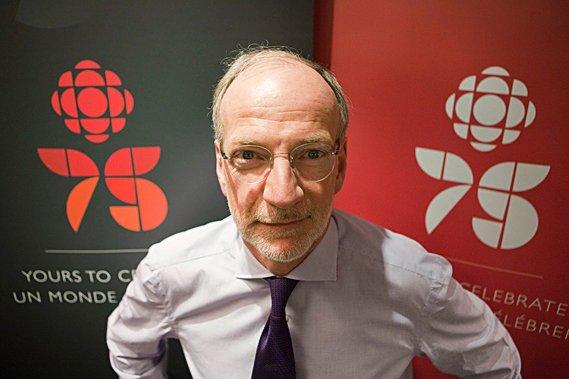 Le président-directeur général de CBC/Radio-Canada, Hubert Lacroix.... (La Presse Canadienne)