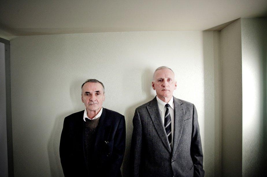 Le journaliste Réjean Roy et l'ancien ministre péquiste... (Photo: Marco Campanozzi)