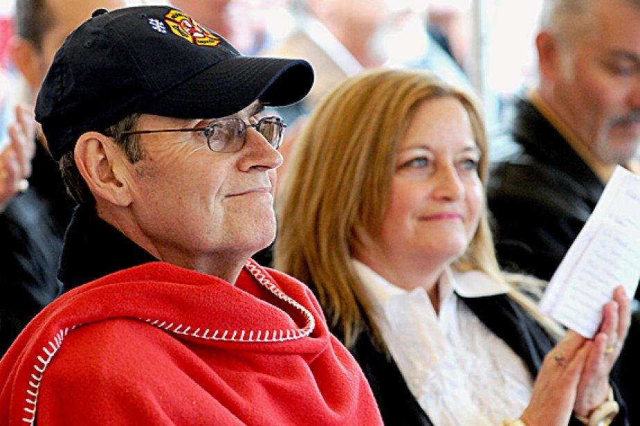 Pat Burns et sa femme Line Gignac, en... (Photothèque Le Soleil)