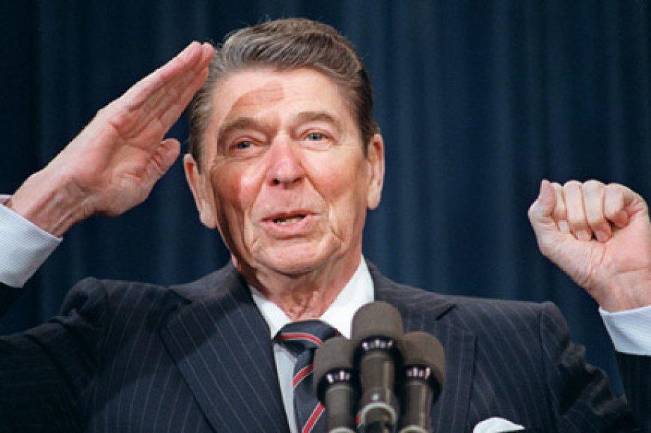 L'ancien président américain Ronald Reagan... (Photo: Mike Sargent, Archives AFP)