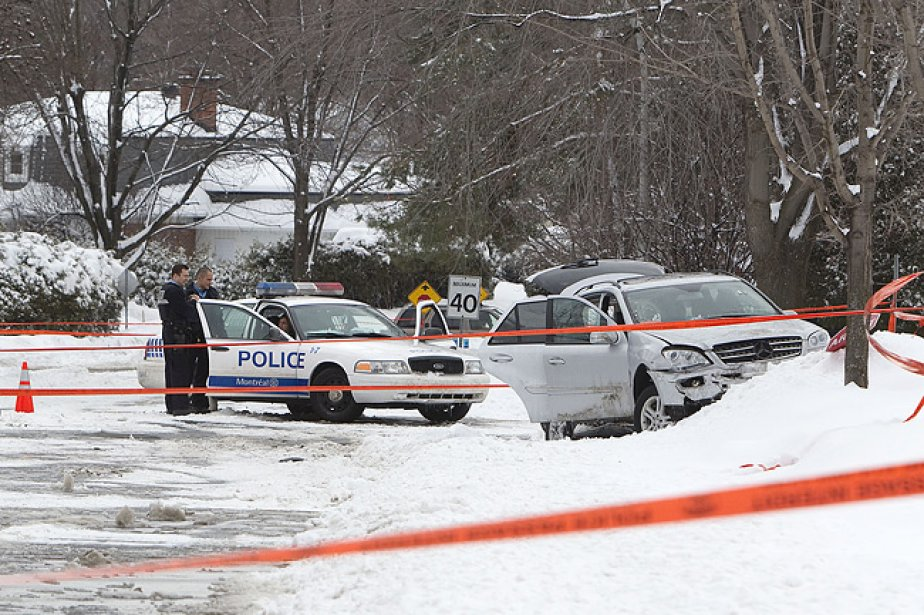 Les deux suspects ont pris la fuite à... (Photo: Robert Skinner, La Presse)