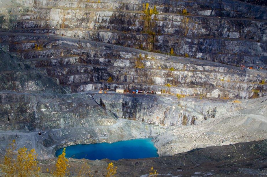 La mine d'amiante Jeffrey à Asbestos, au Québec.... (Photo André Pichette, La Presse)