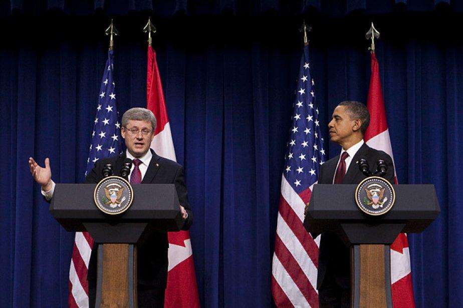 Le premier ministre Stephen Harper était en visite... (Photo: PC)