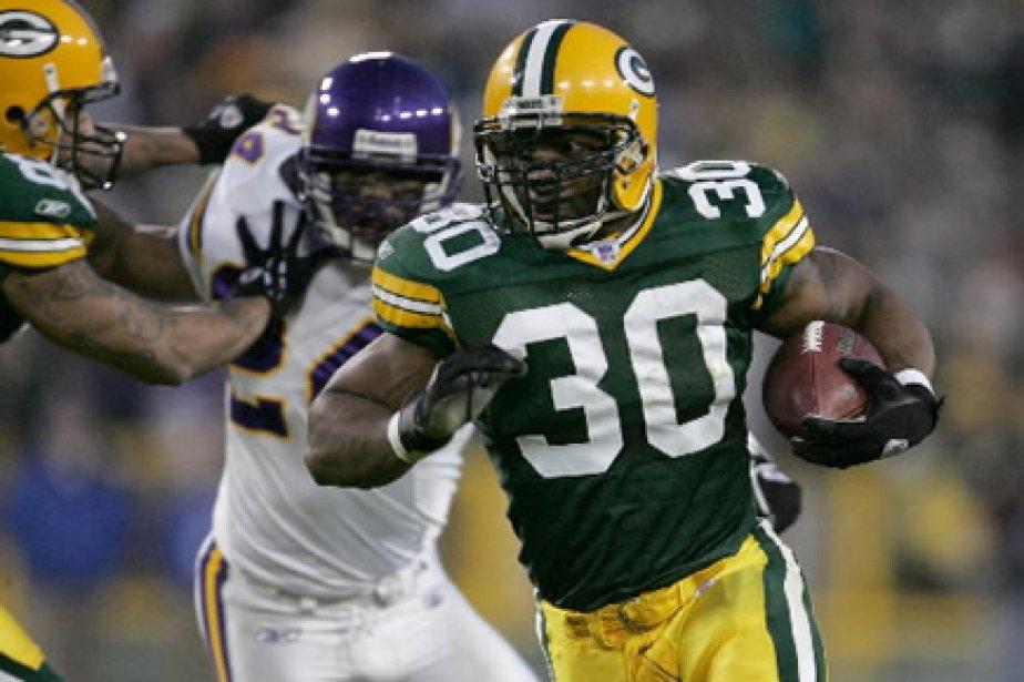 Ahman Green dans l'uniforme des Packers de Green... (Photo: AFP)