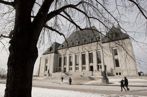 La Cour suprême du Canada, à Ottawa.... (Archives PC)