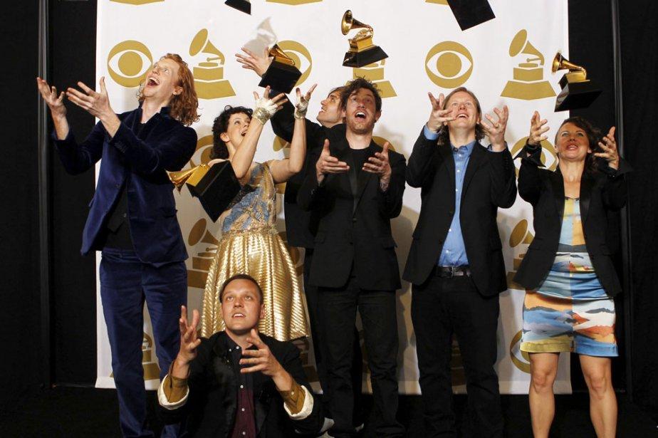 Groupe de musique pop, Arcade Fire a triomphé... (Photo: Reuters)