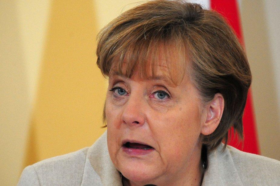 La chancelière allemande Angela Merkel a été la... (PHOTO: JOE KLAMAR, AFP)