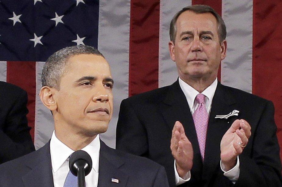 Barack Obama et John Boehner, président républicain de... (Photo: AFP)