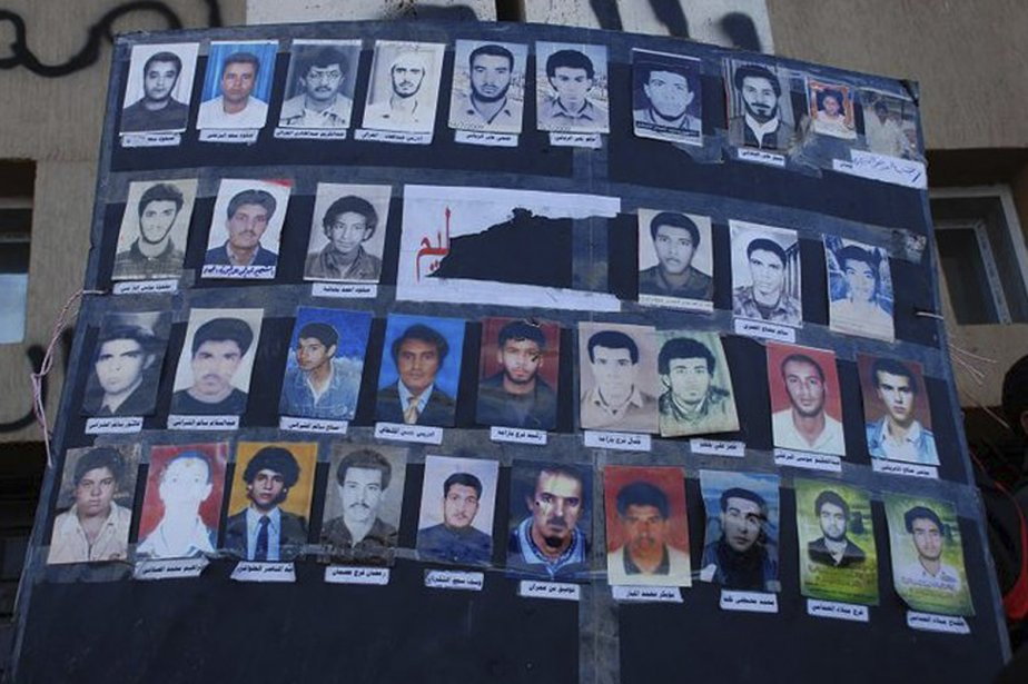 Un collage des photos de manifestants qui auraient... (Photo: Reuters)