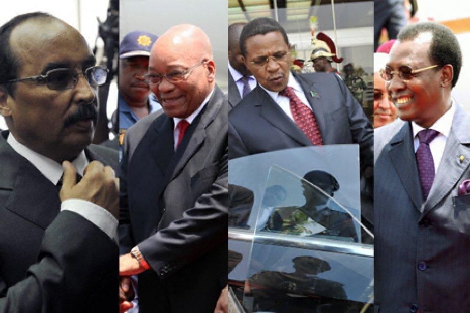 De gauche à droite: Mohamed Ould Abdel Aziz... (Photos: AFP et Reuters)