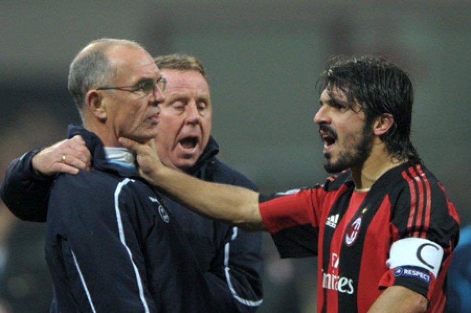 Gennaro Gattuso a mis sa main à la... (Photo: AFP)