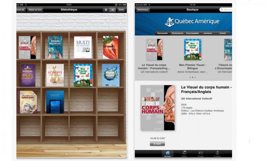 L'application iPad de Québec Amérique...