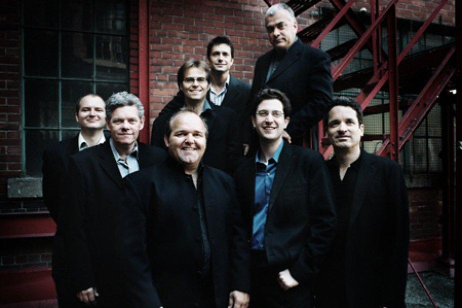 Les huit musiciens du Jazzlab.... (Photo fournie par le Festival Montréal en lumière)