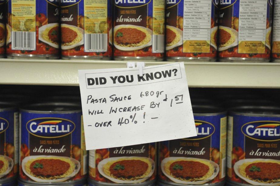 «Le prix de la sauce à spaghettis va... (Photo: Gérard Duhaime, collaboration spéciale)