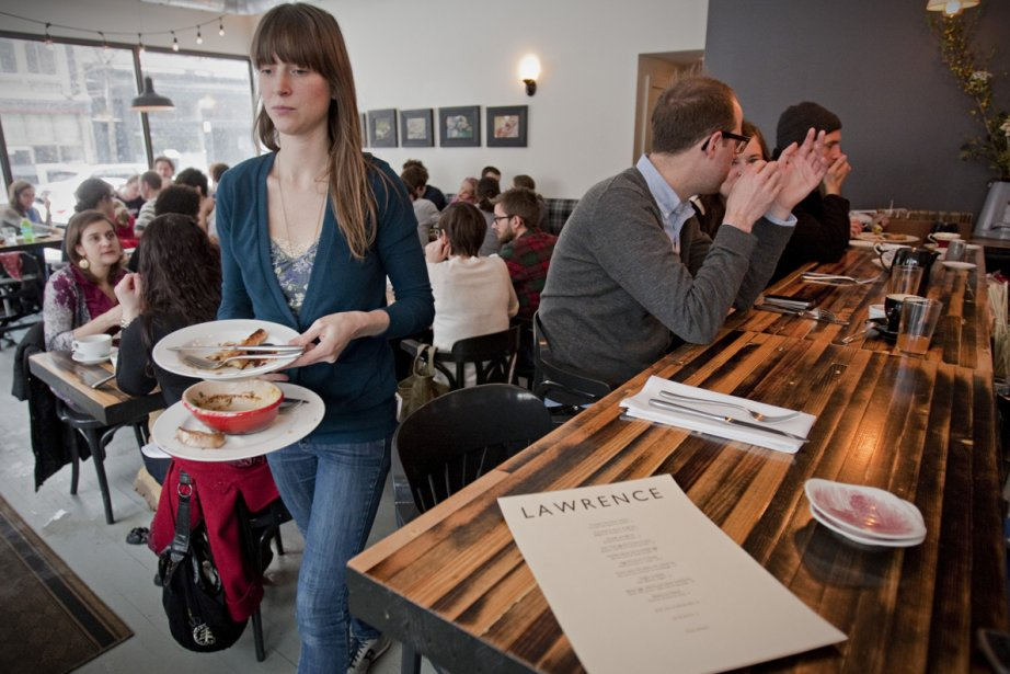 Le Lawrence se veut un resto de quartier... (Photo: David Boily, La Presse)
