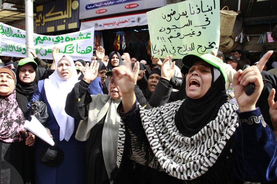 Les familles de prisonniers politiques incarcérés en Jordanie... (Photo: AFP)