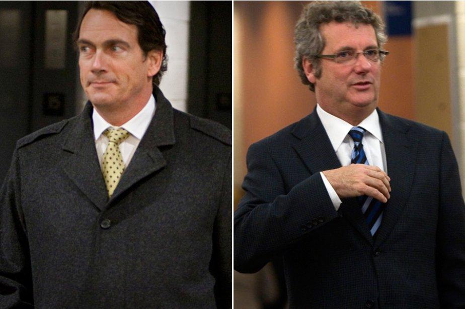 Le PDG de Quebecor, Pierre Karl Péladeau, et... (Photos: Ivanoh Demers et André Pichette, La Presse)