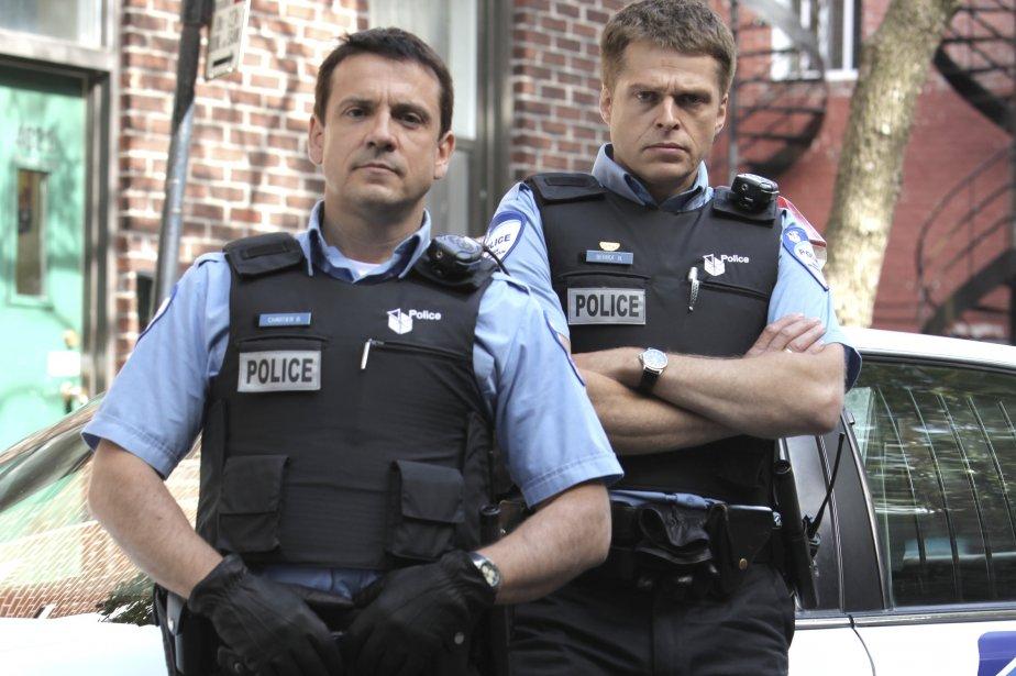 Claude Legault et Réal Bossé, les deux flics... (PHOTO: VERO BONCOMPAGNI)