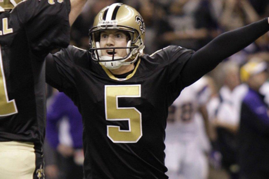 Le botteur de précision des Saints, Garrett Hartley.... (Photo: AP)