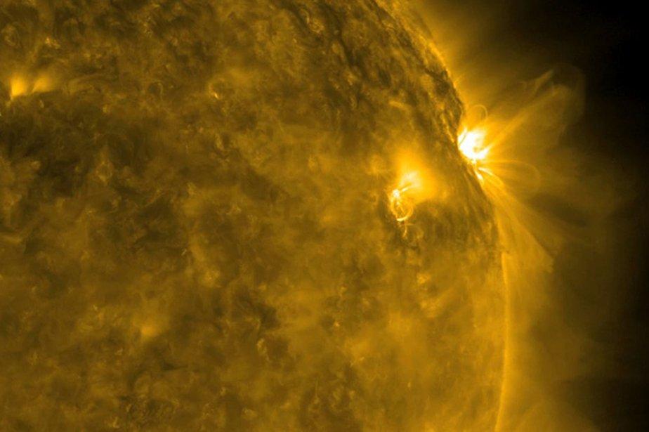 La surface du Soleil a connu une forte... (Photo: AFP/NASA)