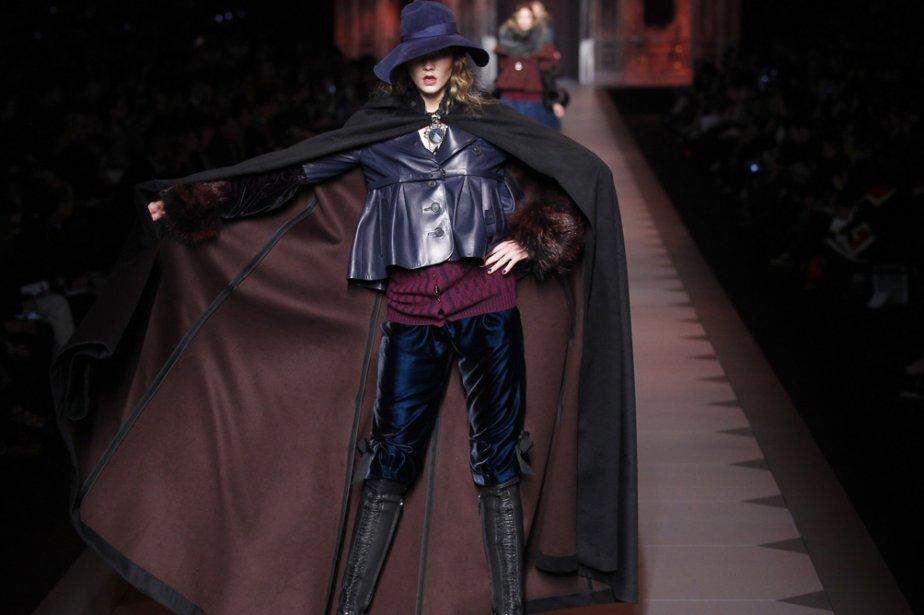 Une création de Galliano pour Dior, présentée lors... (Photo: AFP)