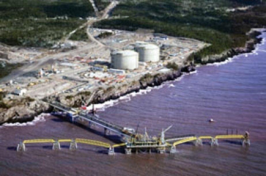 Le port méthanier de Saint-Jean, au Nouveau-Brunswick... (Canaport LNG)
