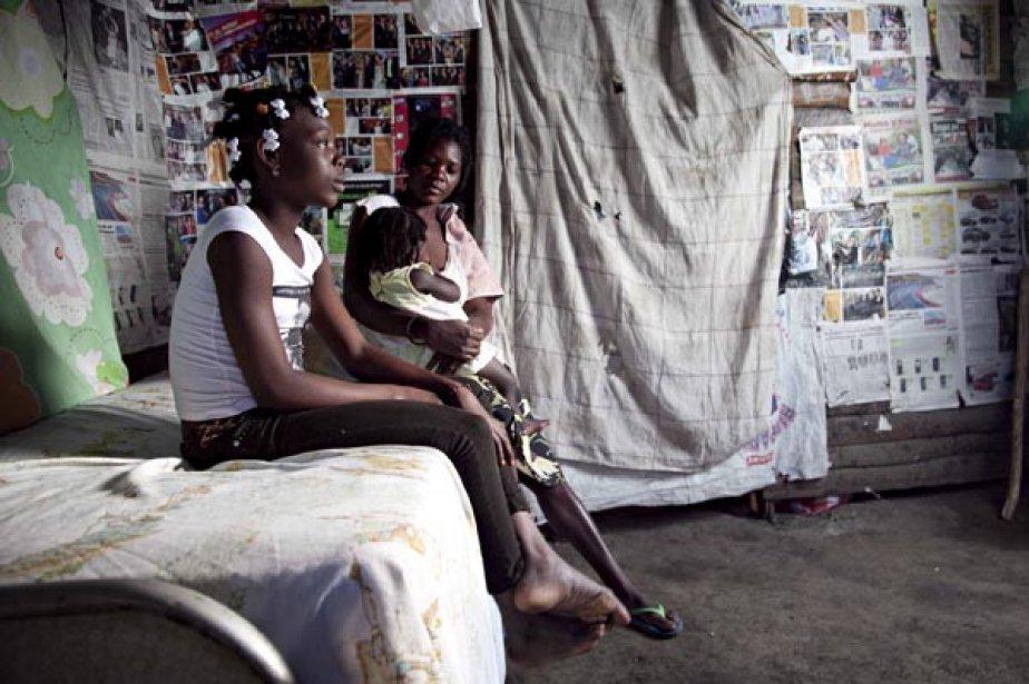 Wiseline, une jeune Haïtienne de 14 ans, a... (photo Étienne Côté-Paluck, Collaboration spéciale)
