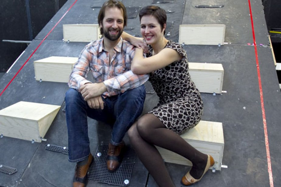Étienne Dupuis (John Sorel) et Caroline Bleau (Magda... (Photo: Alain Roberge, La Presse)
