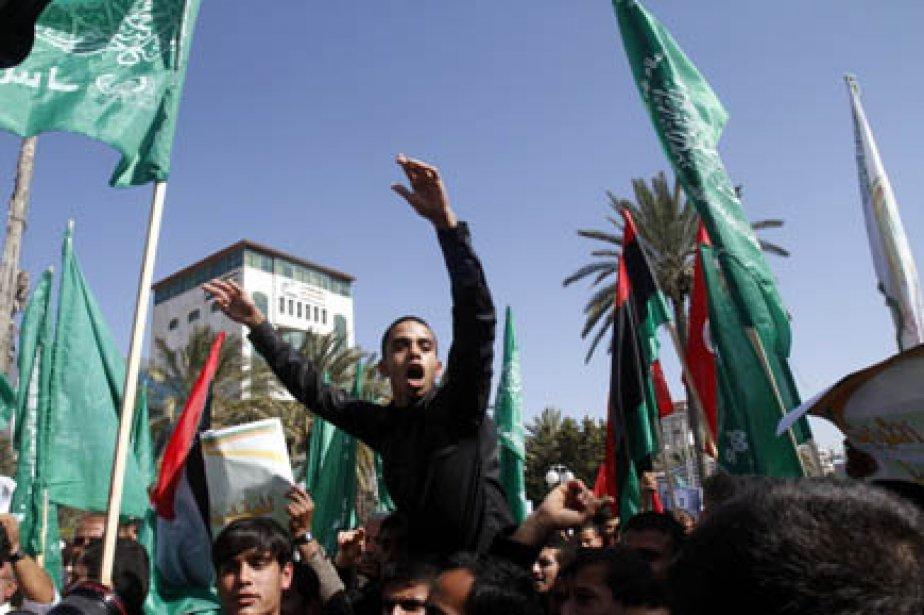 Hier, une marche avait lieu dans les rues... (Photo Mohammed Abed, AFP)