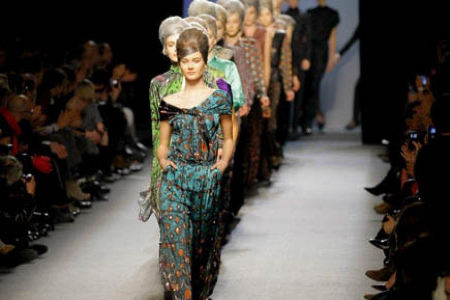 L'actrice française Valérie Lemercier a défilé pour Gaultier,... (Photo AP)