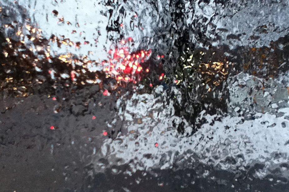 Après la pluie et le grésil, la neige.... (Photo: La Presse)